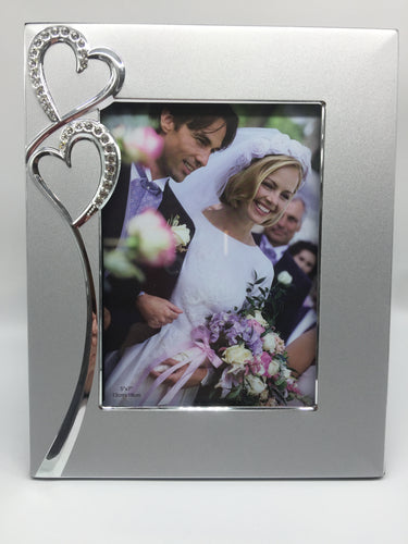 Wedding/ Engagement Diamante Heart Frame 5x7