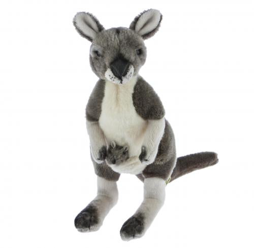 Kangaroo w/joey - 28cm, grey (Tracy)