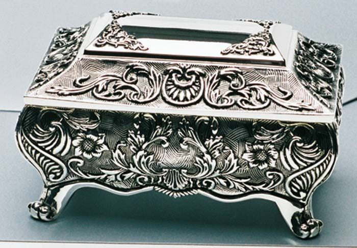 Silverplate Footed Box - Small