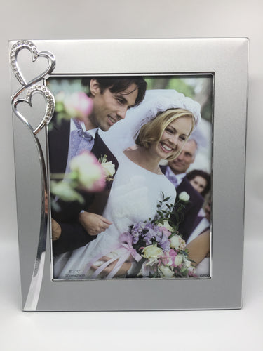 Wedding/ Engagement Diamante Heart Frame 8x10