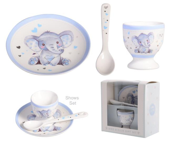 Blue Baby Elephant - Egg Cup Set
