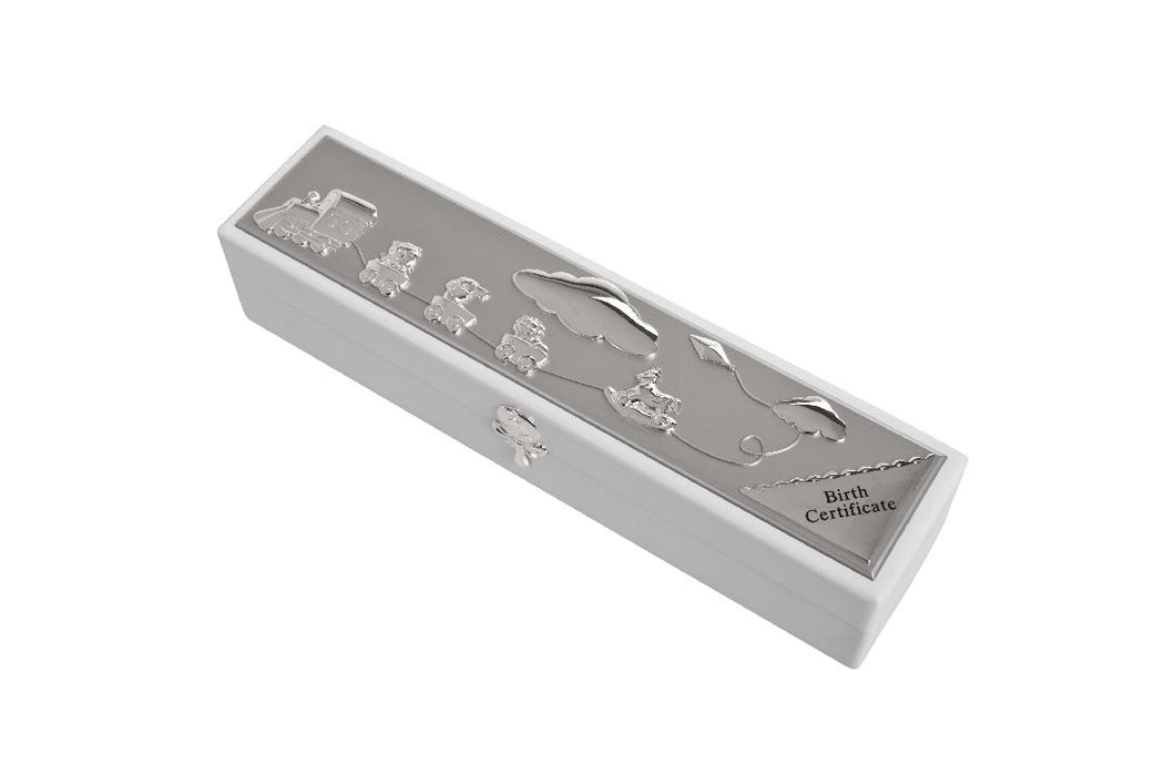 Silverplate Birth Certificate Holder