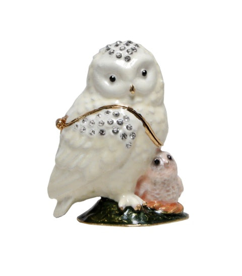 Trinket Box Owl and Baby