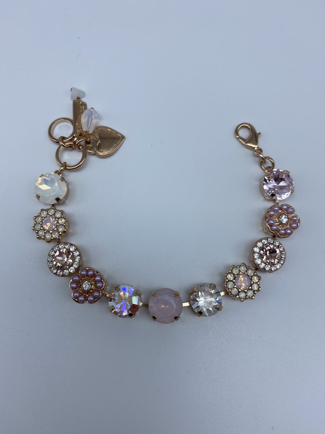 Mariana Pink Flower Bracelet Rose Gold