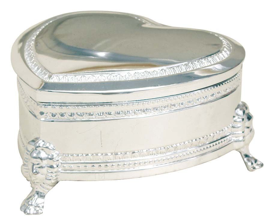 Silverplate Heart Box - Medium