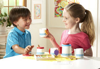 Melissa & Doug 22-Piece Steep and Serve Wooden Tea Set - Play Food and Kitchen Accessories