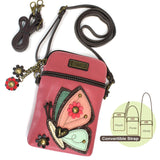 Chala Cell Phone Crossbody Butterfly Guava