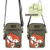 Chala Cell Phone Crossbody Fox Olive