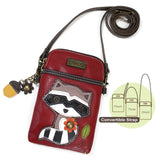 Chala Cell Phone Crossbody Raccoon Red