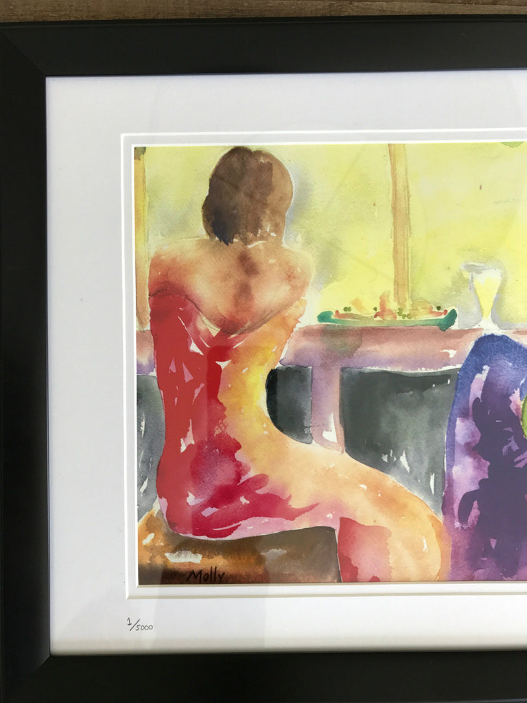 Watercolor Painting by Molly -  A Night Out