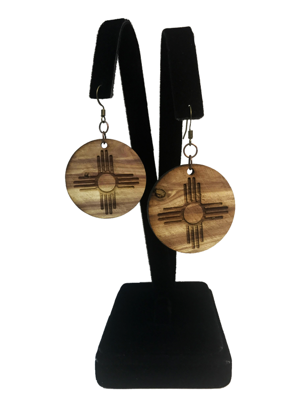 NM Cedar Zia Earring