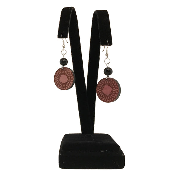 Geometric Earrings with black bead