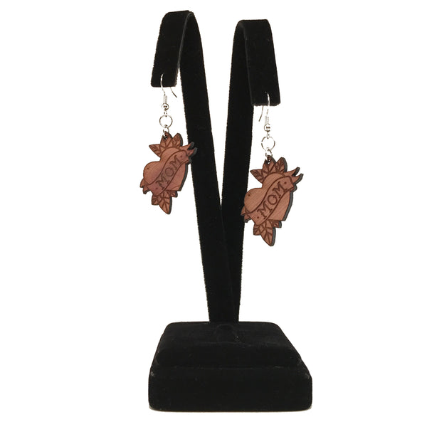 Mom Heart Earrings