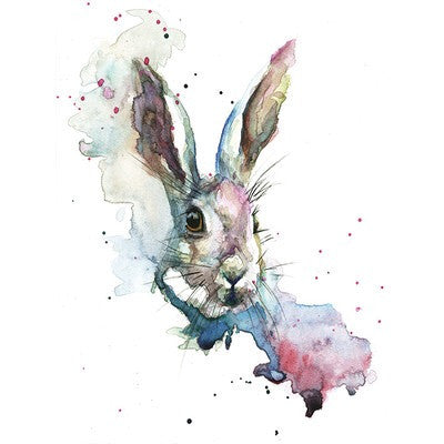 Watercolour Hare Canvas