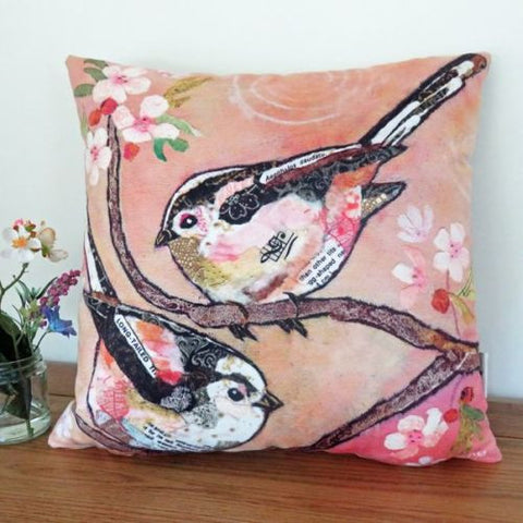Finches & Blossom Cushion
