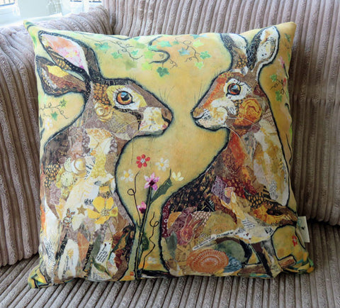 Pair of Hares Cushion