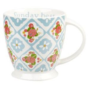 Floral 'Sunday best' small mug by Julie Dodsworth