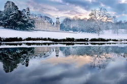 'Winter at Broughton Hall' print by Stephen Garnett