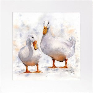 'Dave & Doris Ducks' framed print by Bree Merryn