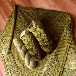 Stardust Gradient Celtic Coast Shawl Kit