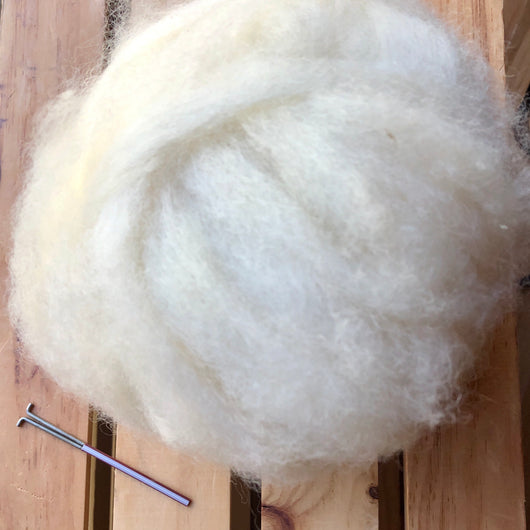 Undyed Coopworth felting Kit