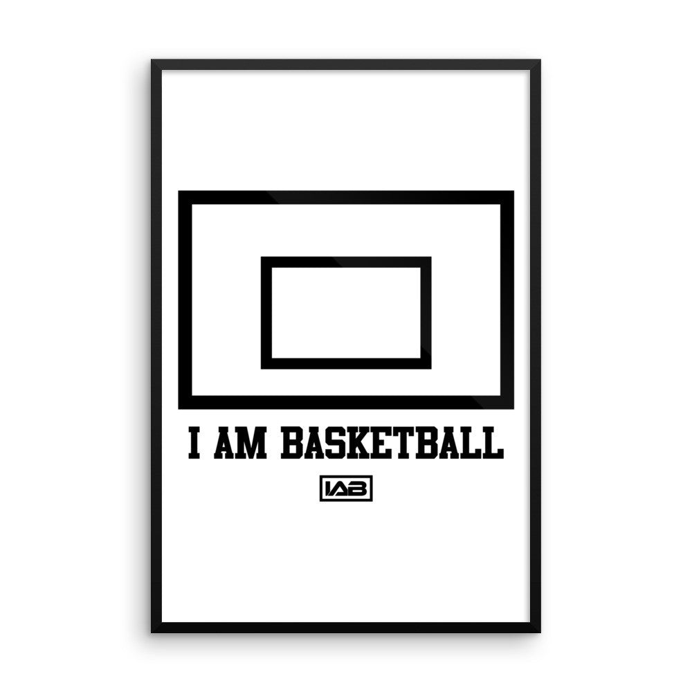I AM BASKETBALL BACKBOARD WALL ART