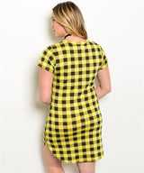 YELLOW CHECKER DRESS