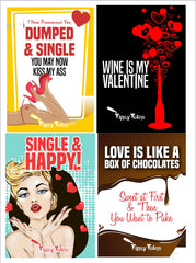 Galentine's Day #TipsyLabels - Anti Valentine's Day Wine Labels