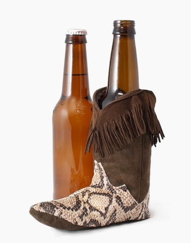 brown snakeskin cowboy boot cozy