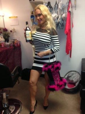 Coco with Bustier Wine Tote