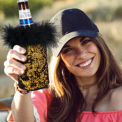 Gold & Black Beer Koozie