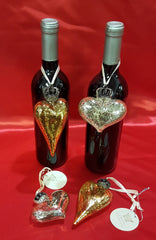 heart hanger wine charms