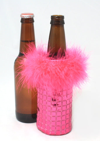 pink sequin coozie