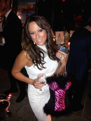 Kelly Rossi with Bustier Wine Tote