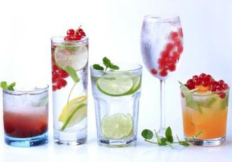 Colorful Gin Drinks
