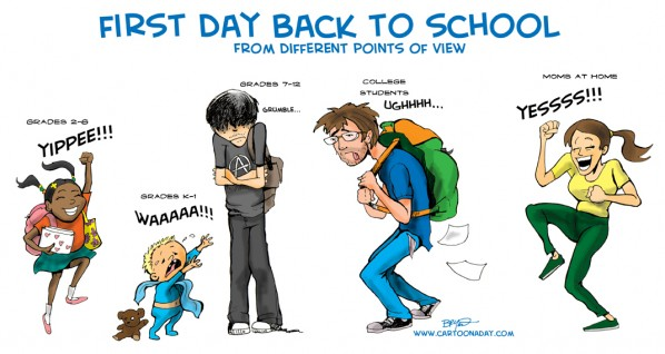 First Day of School from Different Points of View