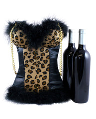 Leopard Bustier Tote  by Tipsy Totes