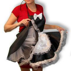 Fancy French Maid Apron with toole