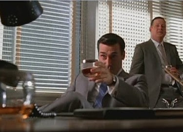 Mad Men - Drinking Whiskey