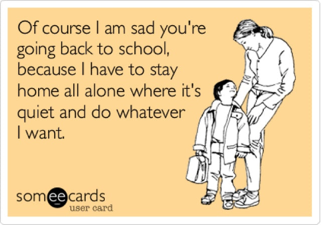 Funny meme about back to school