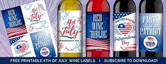 4TH OF JULY WINE LABELS