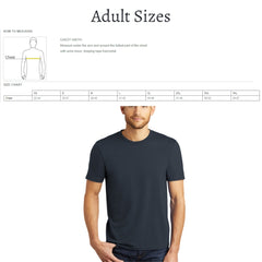 Size Chart for Adult Unisex Shirt