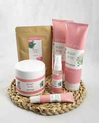 Fragrant Desert Rose Spa Gift Basket - Tipsy Totes | Wine Gifts | Beer Koozies | Wine Totes | Simply Fabulous