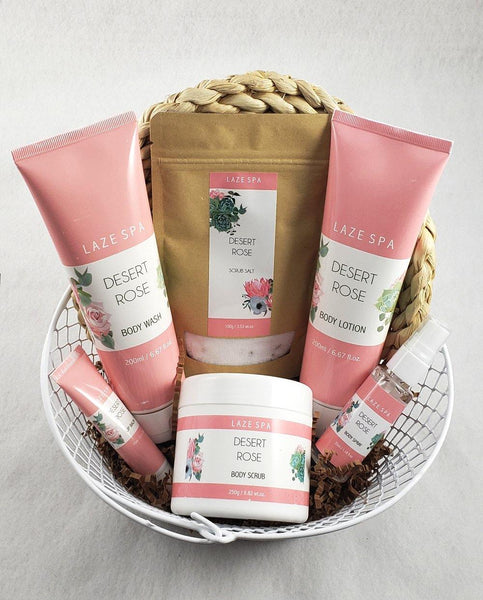 Fragrant Desert Rose Spa Gift Basket