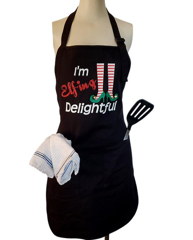 Elf-ing Delightful Apron with real jingle bells