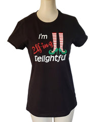 Elf-ing Delightful tee by Tipsy Totes