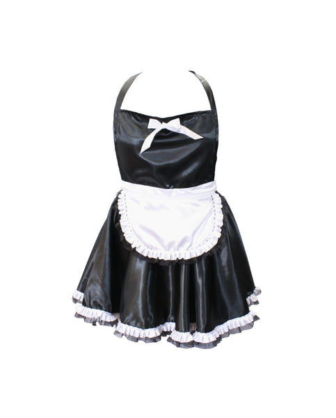 French Maid Apron with Feather Duster Accessory