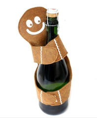 Ginger Bread Man Wine Bottle Hugger - Fantastic Holiday Gift Idea