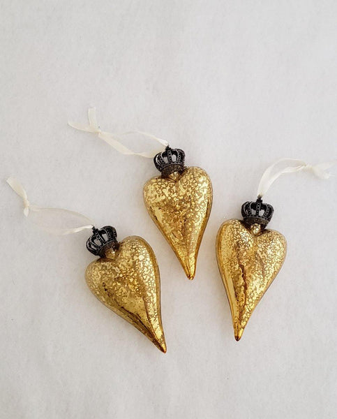 Keepsake Gold Glass Hearts