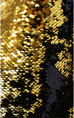 Stiletto Wine Bag in Black and Gold Hot Pink and Silver Reversible Mermaid Sequin Fabric